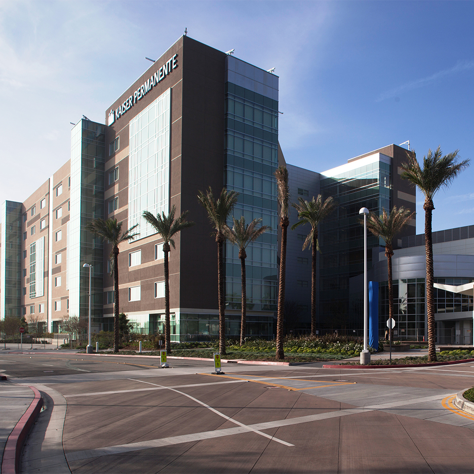External View of San Bernardino County Medical Center.