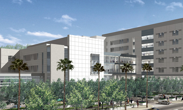 External View of Los Angeles Medical Center.