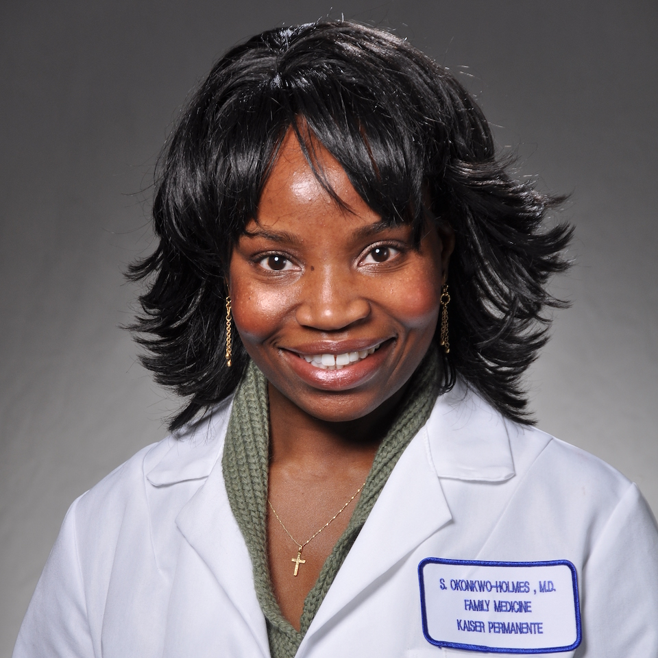 A headshot of Sharon Okonkwo-Holmes, MD