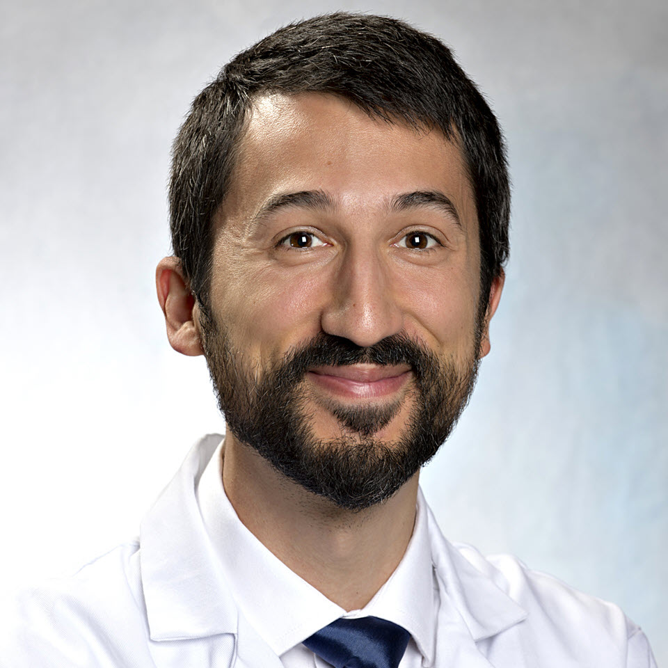 A headshot of Aaron L. Berkowitz, MD, PhD